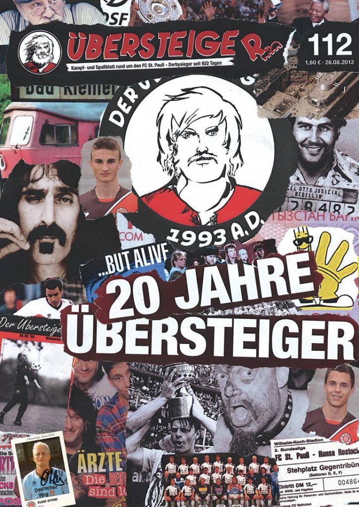 Cover der 112. Übersteiger-Ausgabe. 20 Jahre ÜS - und vieles andere