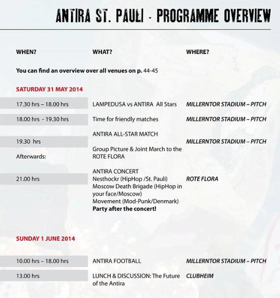 Antira-Turnier St.Pauli 2014 - Programm Teil 2