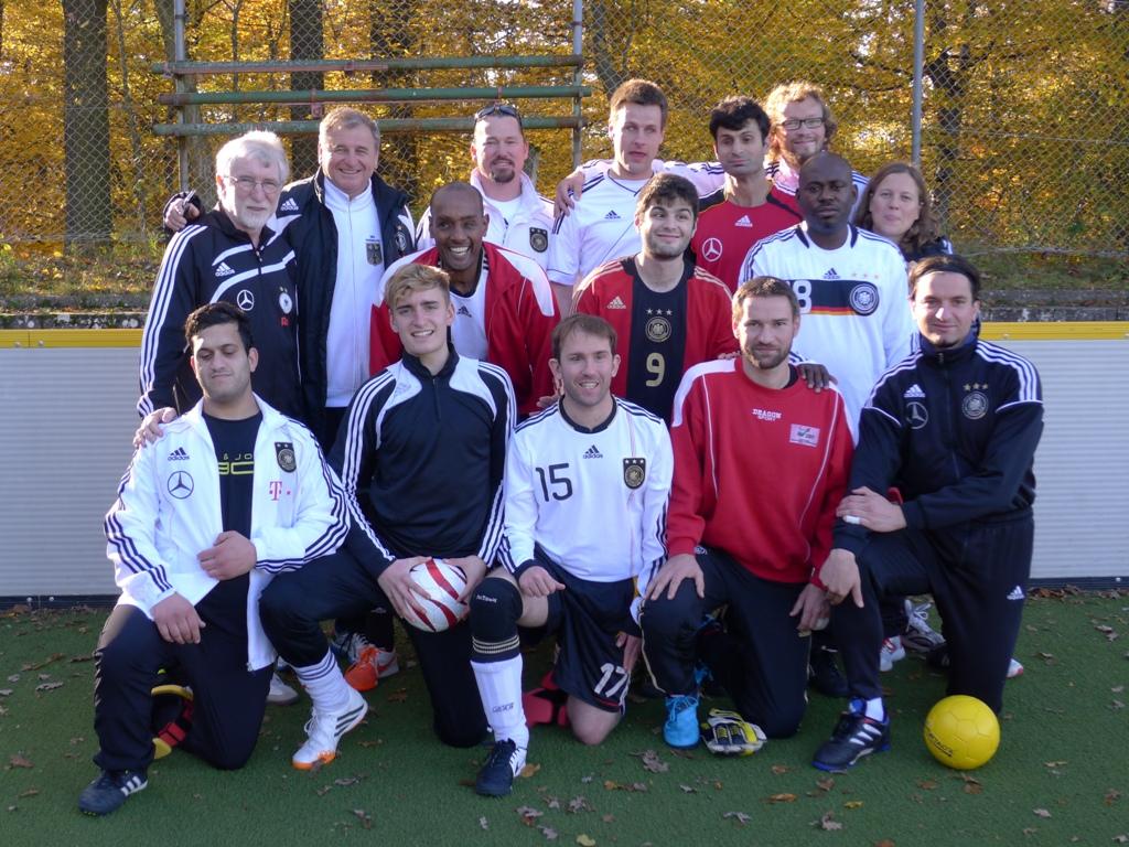 Teamfoto Blindenfussball Nationalmannschaft - (c) Wolf Schmidt