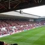 Der neue Teil des Ashton Gate Stadium